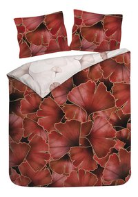 Heckett & Lane Housse de couette Daya Plum Red twill de coton-commercieel beeld
