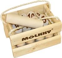 Tactic Mölkky dans une caisse en bois