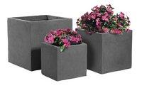 MCollections 3 vierkante bloempotten donkergrijs-Artikeldetail