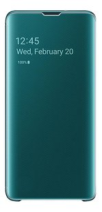 Samsung Foliocover Clear View Cover voor Galaxy S10 green-Vooraanzicht