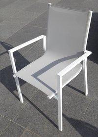 Chaise de jardin Forios gris clair/blanc-Détail de l'article
