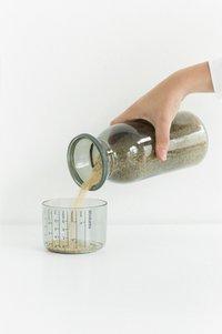 Brabantia Boîte à provisions avec bol-couvercle gradué dark grey 1,3 l-Détail de l'article