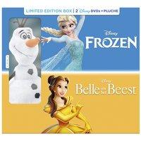 Dvd Frozen + dvd Belle en het Beest + knuffel Olaf