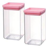 Brabantia Boîte à provisions Tasty Colours rose 1,6 l - 2 pièces