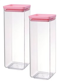 Brabantia Boîte à provisions Tasty Colours rose 2,5 l - 2 pièces