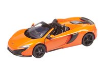 DreamLand voiture Showroom de luxe McLaren 650S Spider orange-commercieel beeld