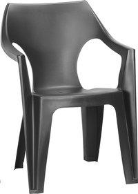 Allibert chaise de jardin Dante - dossier bas gris graphite