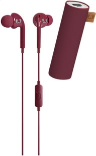 Fresh 'n Rebel powerbank + hoofdtelefoon in-ear Ruby-commercieel beeld