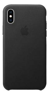 Apple coque en cuir pour iPhone Xs noir-Arrière