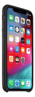 Apple coque en cuir pour iPhone Xs noir-Côté gauche