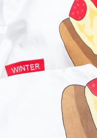 Gaaf Dekbedovertrek Pizza katoen-Artikeldetail