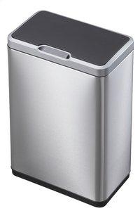 Eko Afvalbak Recycle Mirage Sensor inox/zwart 40 l-Vooraanzicht