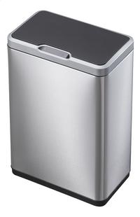 Eko Afvalbak Recycle Mirage Sensor inox/zwart 40 l