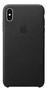 Apple Cover leder iPhone Xs Max zwart-Achteraanzicht