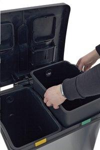 Eko Pedaalemmer Recycle Rejoice inox/zwart 60 l-Afbeelding 1