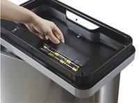 Eko Afvalbak Recycle Mirage Sensor inox/zwart 40 l-Afbeelding 1