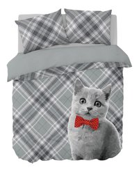 Nightlife Dekbedovertrek Cat Bowtie katoen/polyester-Vooraanzicht
