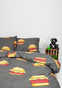 Gaaf Dekbedovertrek Hamburger katoen-Afbeelding 1