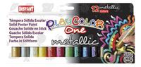 Instant gouache en stick Playcolor One Metallic - 12 pièces