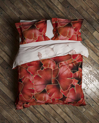 Heckett & Lane Housse de couette Daya Plum Red twill de coton-Image 1