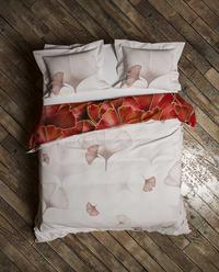 Heckett & Lane Housse de couette Daya Plum Red twill de coton-Image 2
