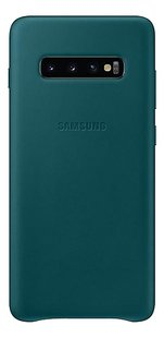 Samsung Leather Cover voor Galaxy S10+ green-Achteraanzicht