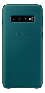 Samsung coque Leather Cover pour Galaxy S10 Green-Arrière