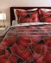Heckett & Lane Housse de couette Daya Plum Red twill de coton-Image 3