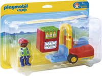 Playmobil 1.2.3 6959 Vorklift met lading-Vooraanzicht