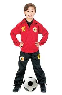 Trainingspak België rood maat 140-Vooraanzicht