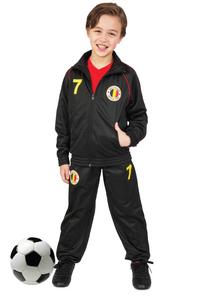 Trainingspak België zwart maat 128