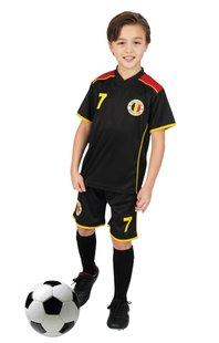 Tenue de football Belgique noir taille 116-Avant