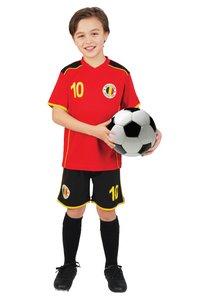 Voetbaloutfit België rood maat 128-Vooraanzicht
