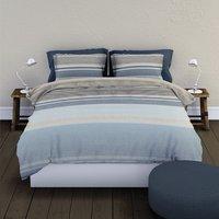Romanette Housse de couette Strato flanelle bleu 240 x 220 cm-commercieel beeld