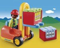Playmobil 1.2.3 6959 Vorklift met lading-Afbeelding 1