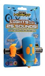 Mini Hornit fietslamp met bel blauw/oranje-Linkerzijde