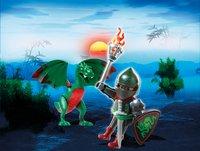 Playmobil Easter 6836 Combattant avec dragon vert-Image 1