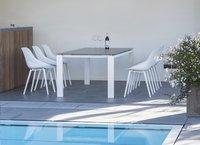 Ocean table de jardin Tokyo blanc L 220 x Lg 100 cm-Image 2