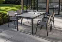 Ocean table de jardin Jura Charcoal L 150 x Lg 100 cm-Image 1