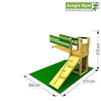 Tour de jeu en bois Barn avec pont et toboggan vert-Détail de l'article