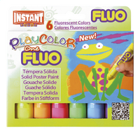 Instant gouache en stick Playcolor One Fluo - 6 pièces