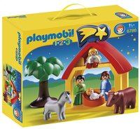 Playmobil 1.2.3 6786 Kerststal-Vooraanzicht