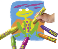 Instant verfstick Playcolor One Fluo - 6 stuks-Afbeelding 1