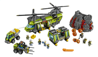LEGO City 60125 L'hélicoptère de transport du volcan-Avant
