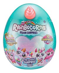 Peluche Rainbocorns Sequin Surprise! Série 2 Flamant rose-Avant
