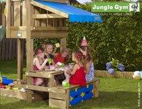 Jungle Gym tour en bois House avec pique-nique et toboggan vert-Image 3