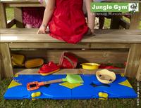 Jungle Gym tour en bois House avec pique-nique et toboggan vert-Image 4