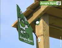 Jungle Gym speeltoren Palace met brug en gele glijbaan-Bovenaanzicht