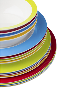 Rosti Mepal 6 platte borden 26 cm blauw-Afbeelding 1