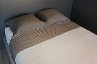 Sleepnight Beddenlaken Satinada antraciet katoensatijn met verticale lijnen 180 x 290 cm-Afbeelding 3